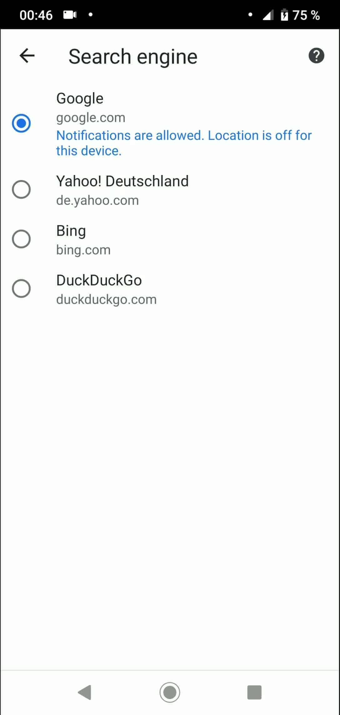 Step 5: Choose a search engine