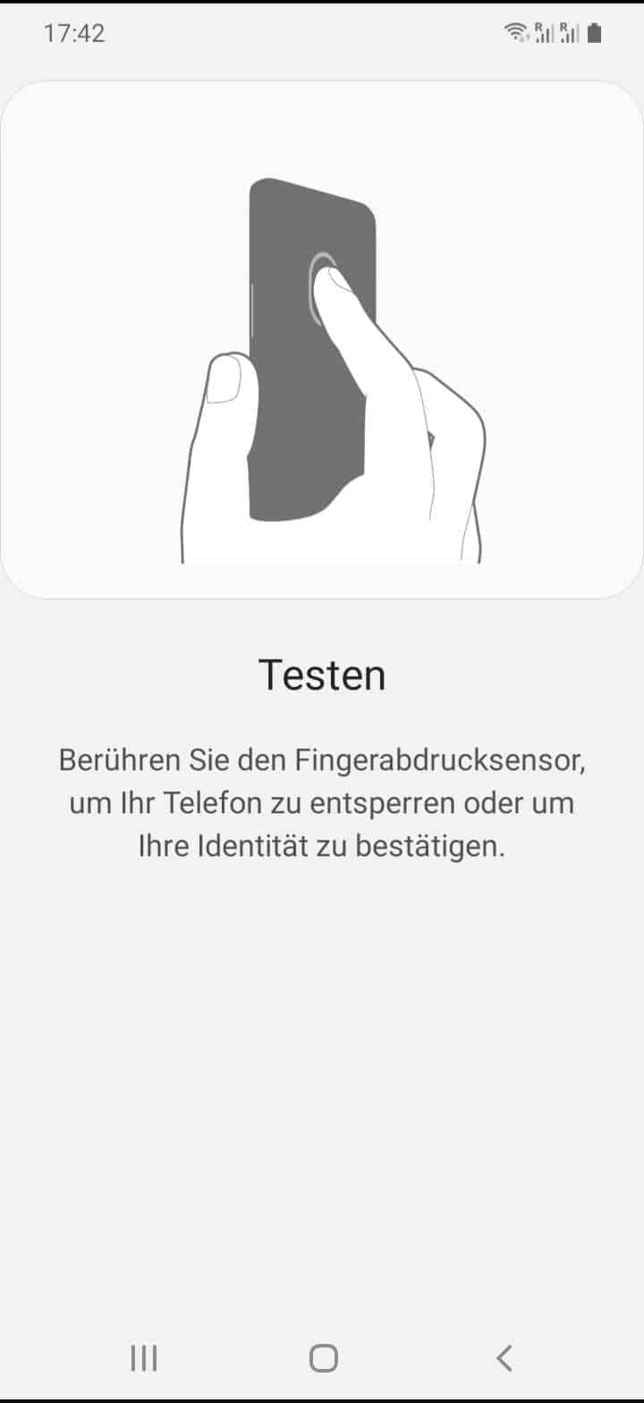 Schritt 9: Berühre mit dem Finger den Fingerabdrucksensor