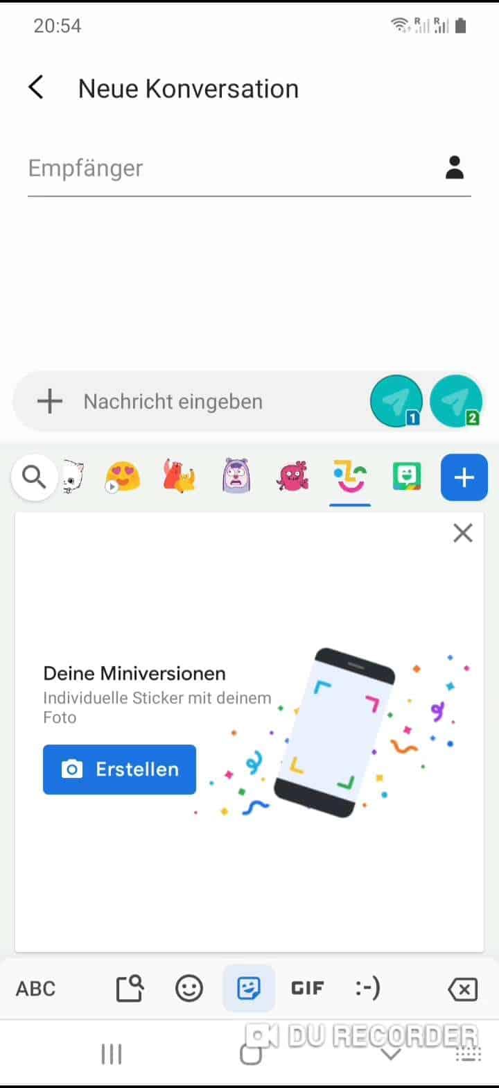 Schritt 3: Tippe auf Emoji-Miniversion
