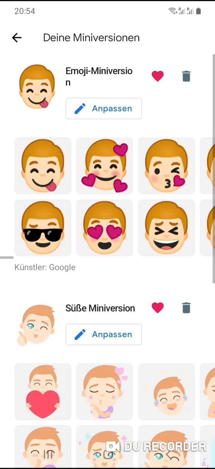 Schritt 7: Tippe auf den personalisierten Emoji um ihn direkt zu senden