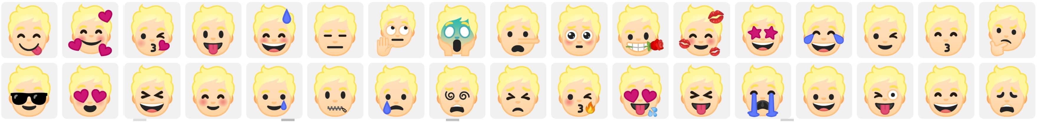 Selbst erstellte Emojis die über der Gboard-Tastatur erstellt worden sind