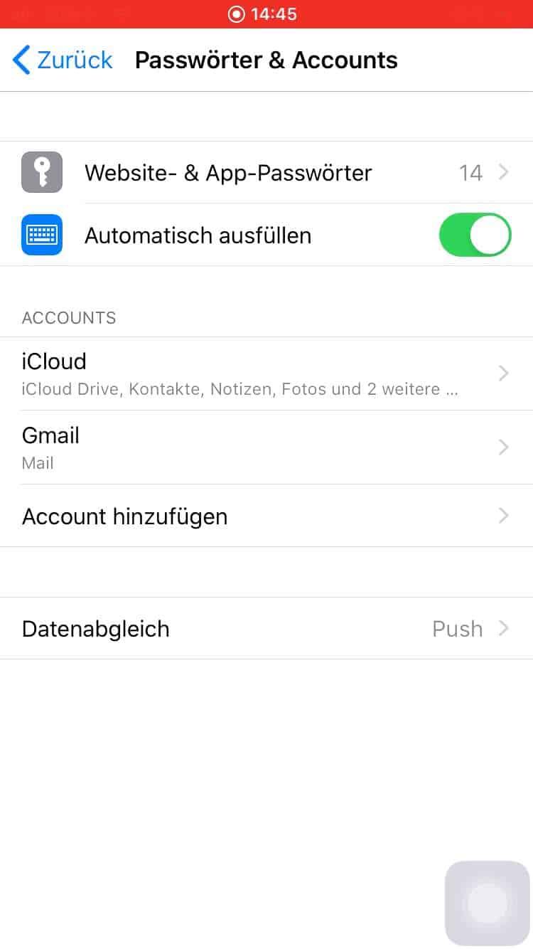 Mail-Account löschen - Apple iPhone Handbuch   TechBone