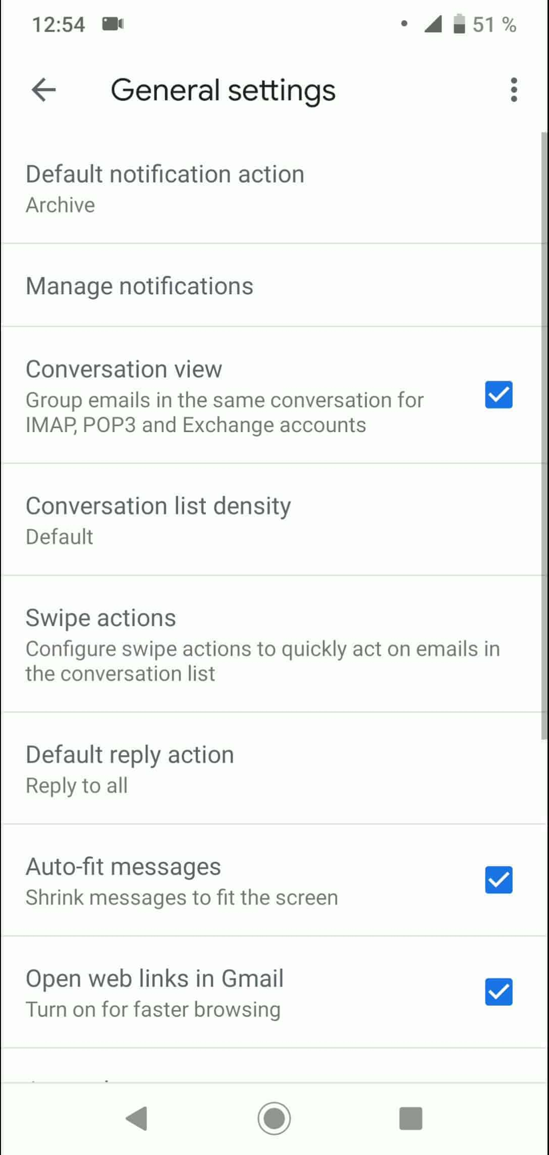 Step 5: Tap on Default reply action