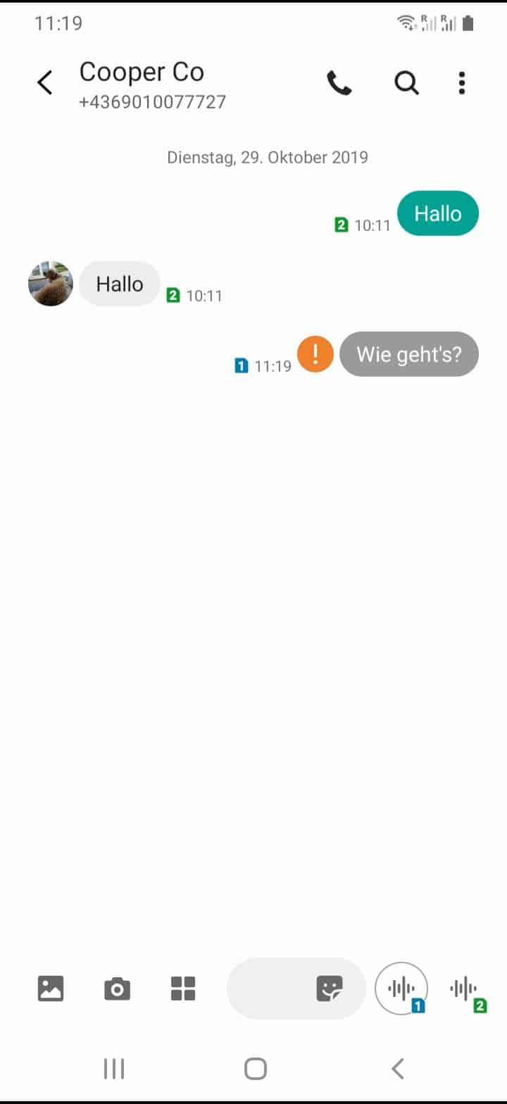 Schritt 3: Tippe und halte die gewünschte SMS/Nachricht