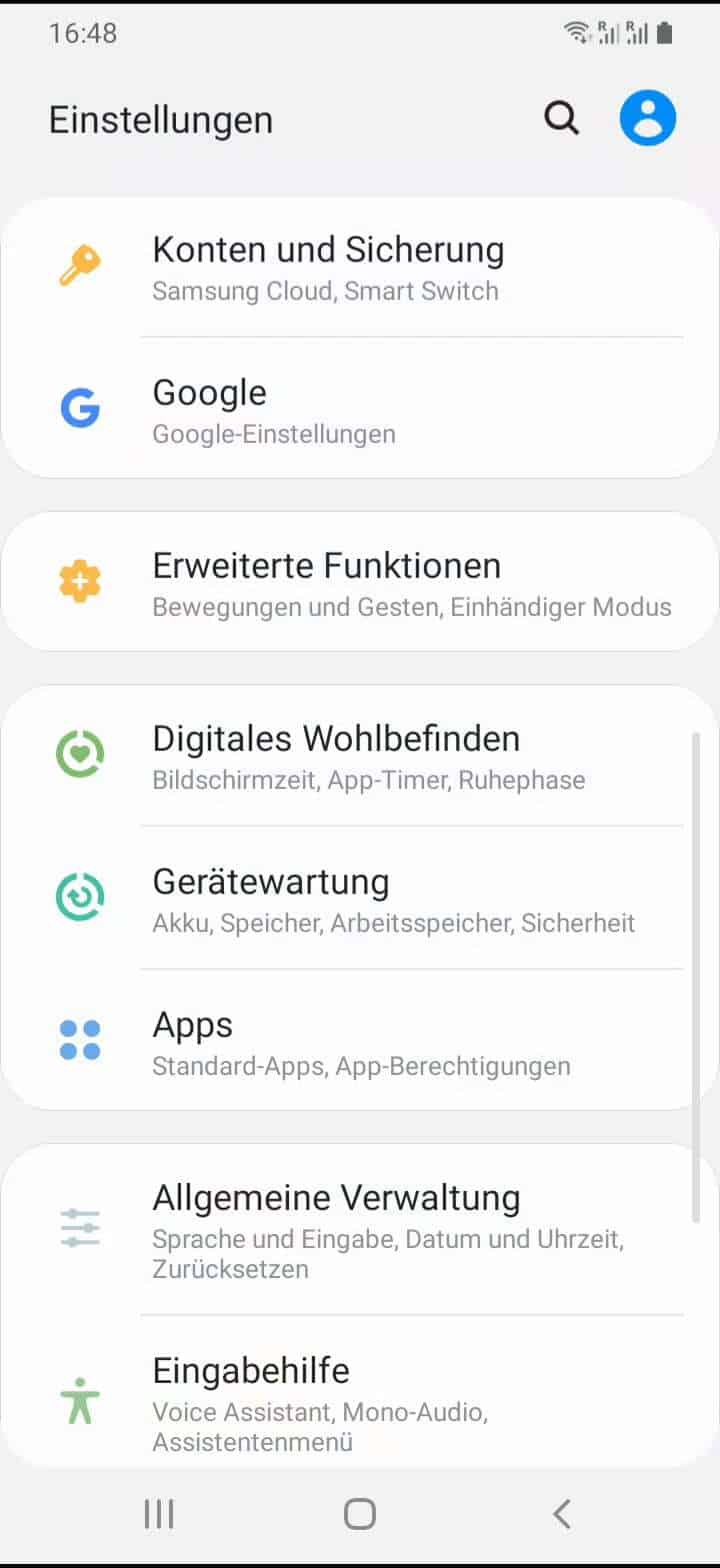 Schritt 2: Tippe auf Apps