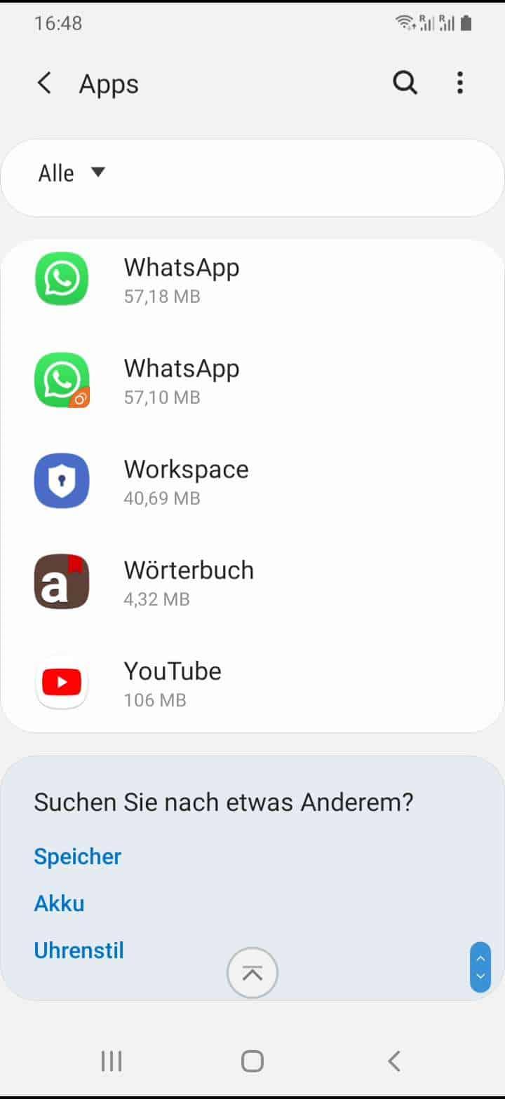 Schritt 3: Wähle die gewünschte App