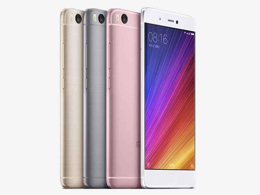Xiaomi Mi5s Colors