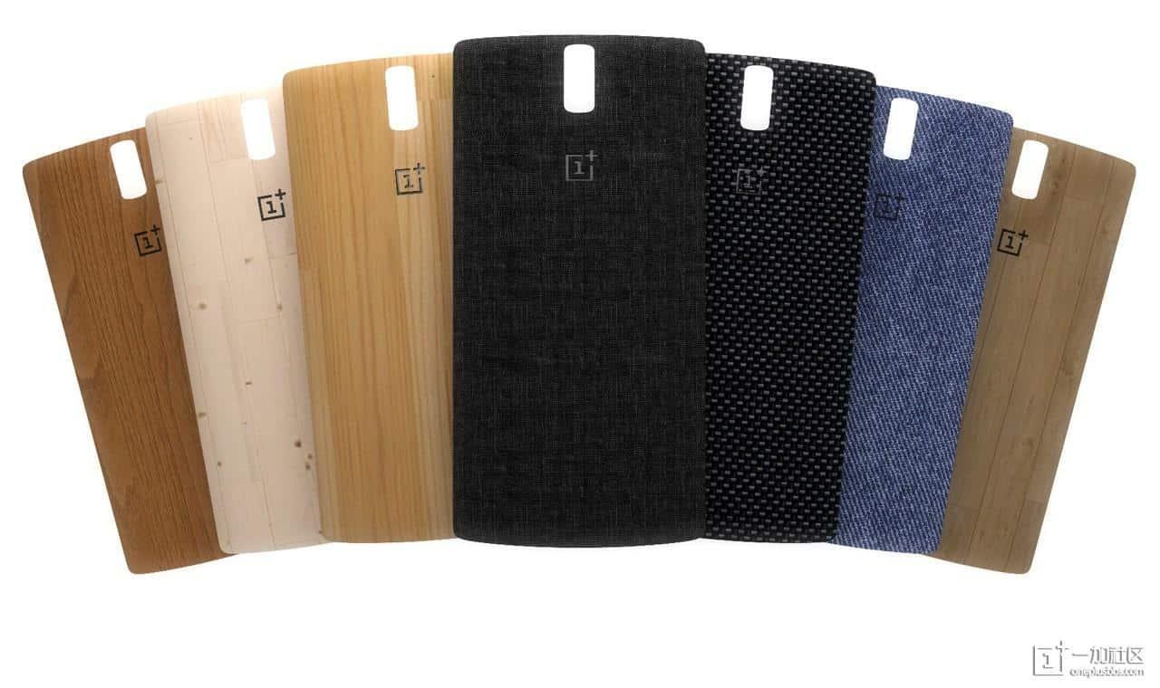 Verschiedene StyleSwap Cover für das OnePlus One.