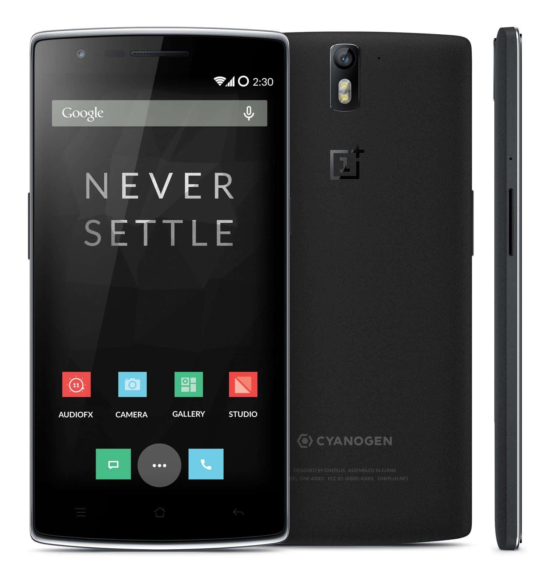 Das OnePlus One in der Farbe Schwarz