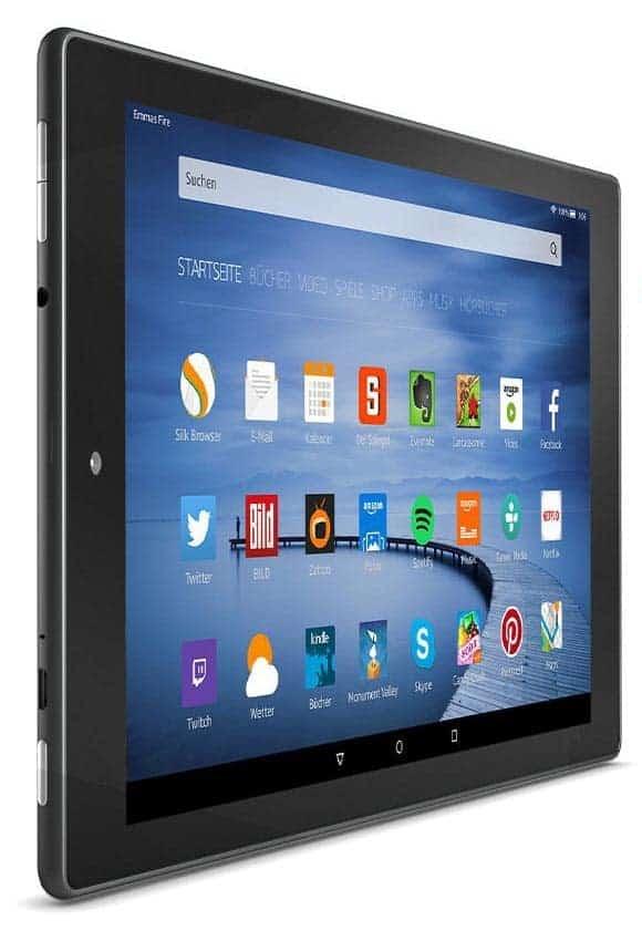 Amazon Fire HD 10 Display seitlich