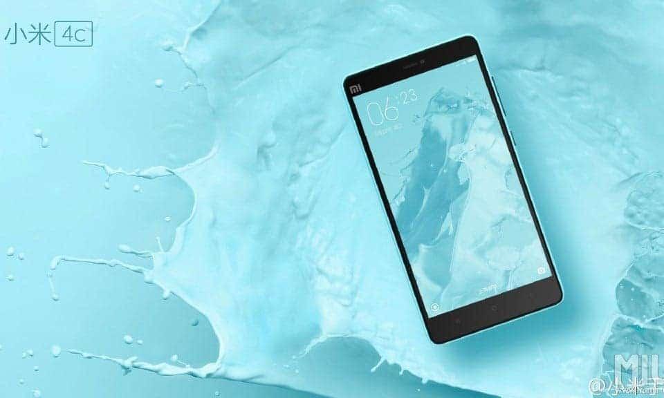 Xiaomi Mi 4c Blue/Blau Back