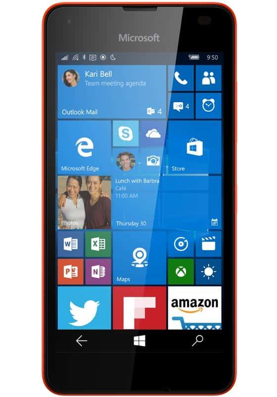 Microsoft Lumia 550 Rot