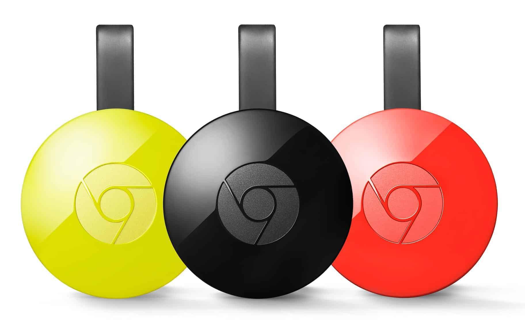 Google Chromecast Farben (Schwarz, Rot, Gelb)