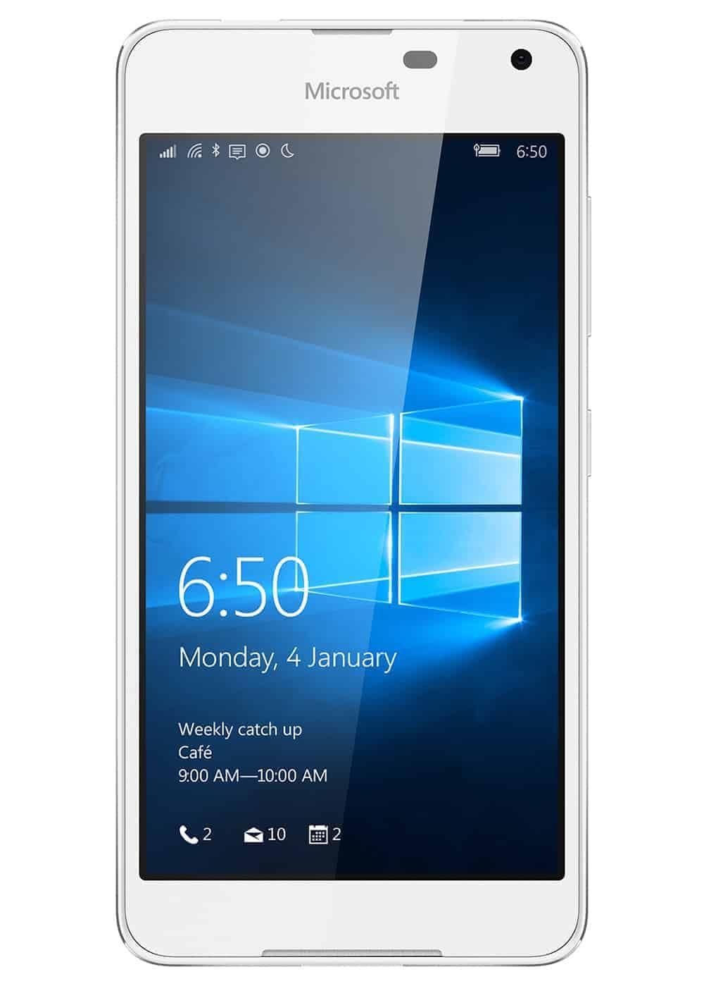 Microsoft Lumia 650 Weiß Front