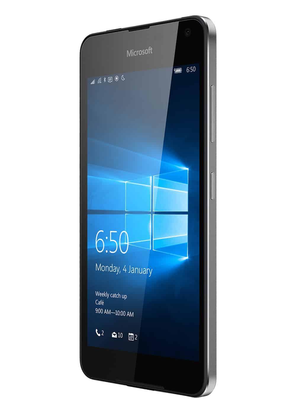 Microsoft Lumia 650 Schwarz Rechts